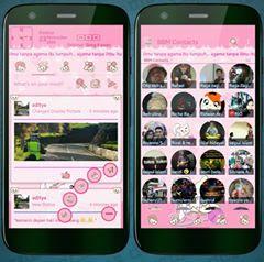 BBM Mod Empus Meong Pink theme V3.2.0.6 Apk