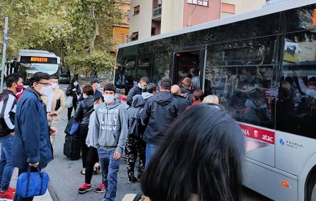 Metro B: La marcia dei romani verso il posto di lavoro
