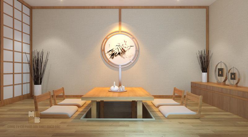 Thiết kế nhà hàng Nhật không gian ăn uống sang trọng