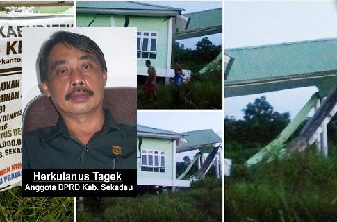 Herkulanus Tagek : Dewan Minta Usut Tuntas Bangunan Puskesmas Belitang