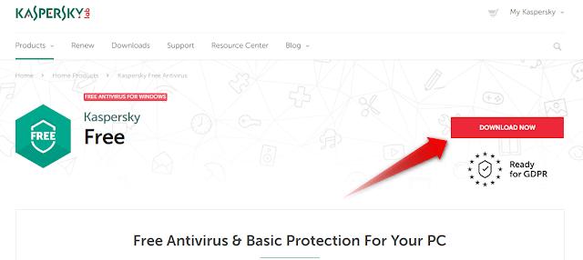 تنزيل برنامج الحماية kaspersky free antivirus المجاني مدى الحياة