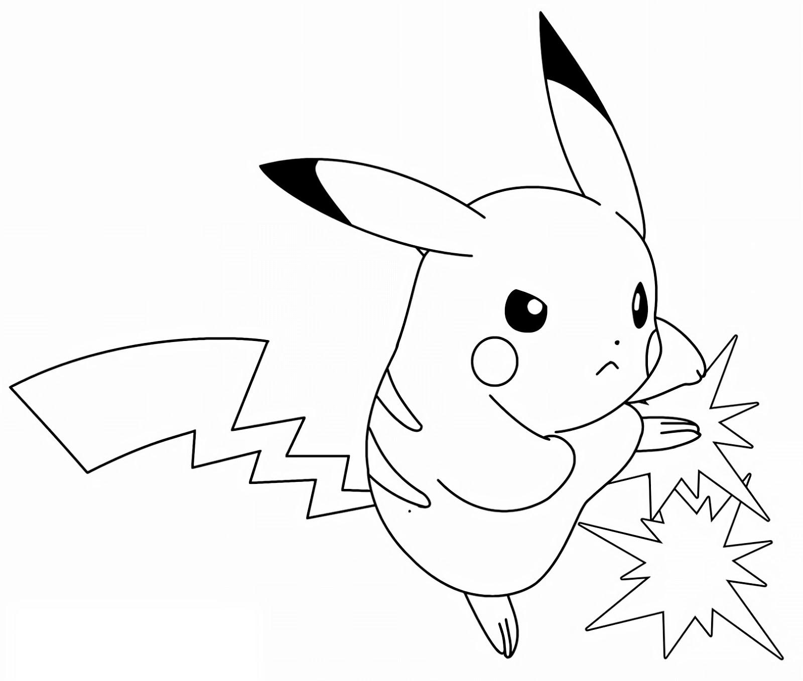 cool pokemon pikachu lightning bolt drawing line art