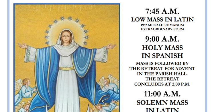 New Liturgical Movement: Immaculate Conception Notices for NYC