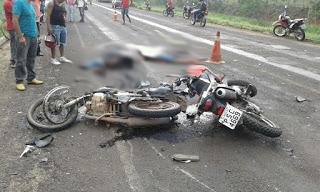 Dois morrem e um fica ferido após batida entre duas motos no Tocantins; um deles era de Marcelino Vieira