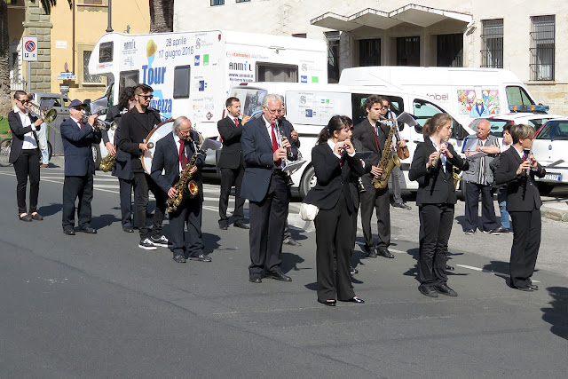 Marching band, piazza del Municipio, Livorno
