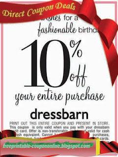 Free Printable Dress Barn Coupons