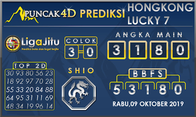 PREDIKSI TOGEL HONGKONG LUCKY7 PUNCAK4D 09 OKTOBER 2019