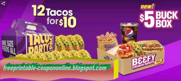 Taco bell discount coupons