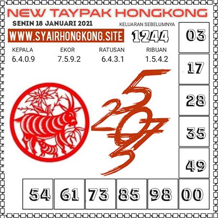 Prediksi Togel New Taypak Hongkong Senin 18 Januari 2021