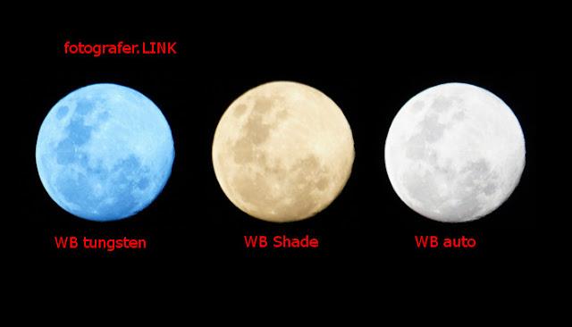 Pengaruh white balance pada warna hasil foto bulan