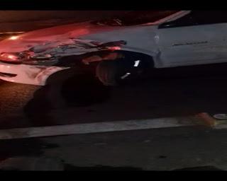 Em Barra de Santa Rosa, acidente entre carro e moto deixa homem gravemente ferido