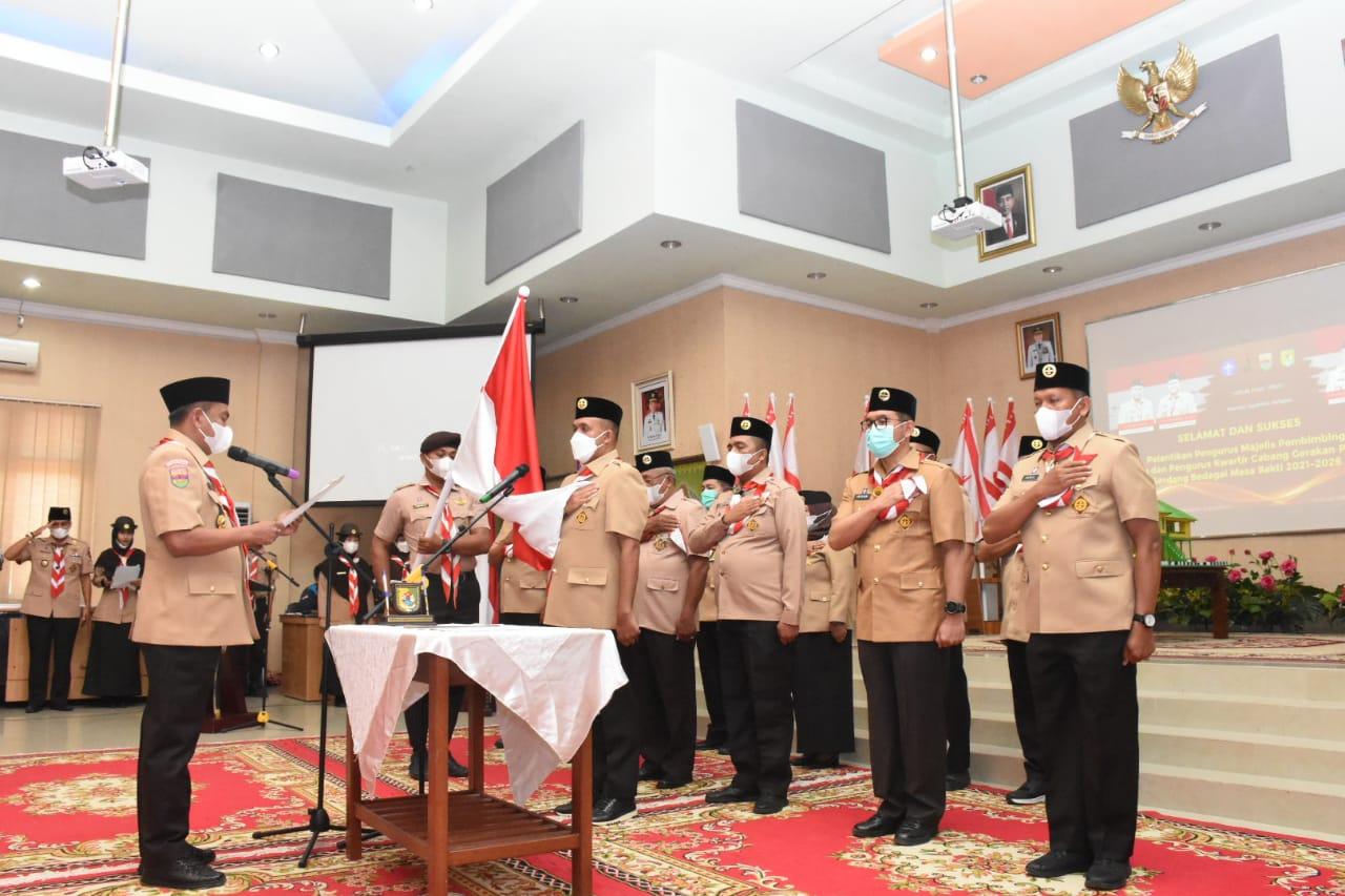 Bupati Sergai Dilantik Jadi Ketua Majelis Pembimbing Cabang Gerakan Pramuka Sergai