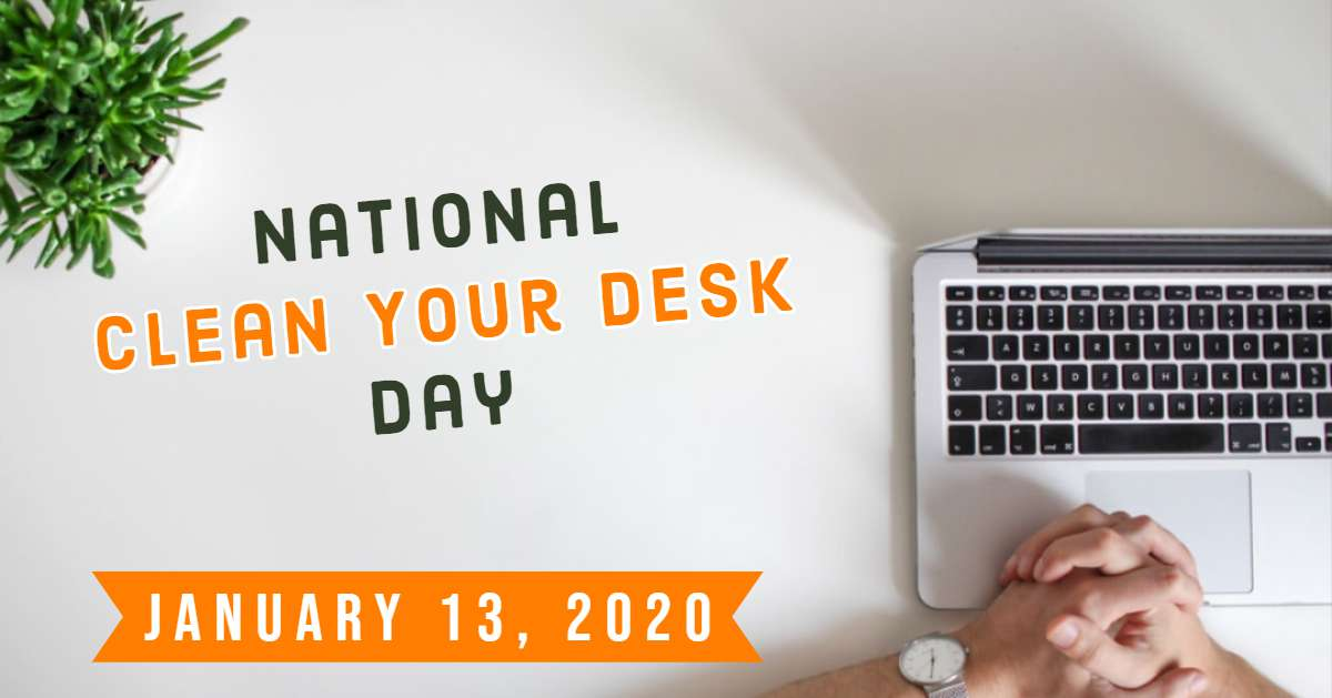 National Clean Your Desk Day Wishes pics free download