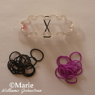 Black and purple stretchy bands