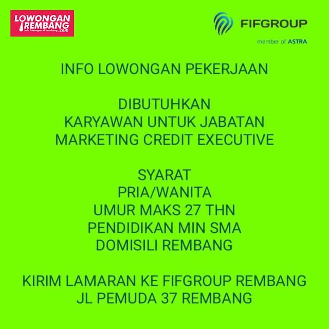 Lowongan Kerja Marketing Credit Executive FIFGroup Rembang