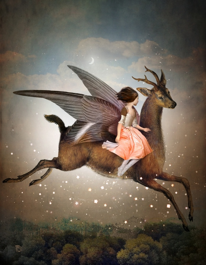 10-The-Night-is-Still-Young-Christian-Schloe-Digital-Art-combining-Dreams-with-Surreal-Paintings-www-designstack-co