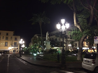 Piazza Sant'Antonino in Sorrento, where the action in Morris West's story takes place