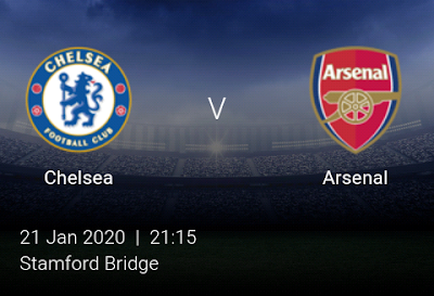LIVE MATCH: Chelsea Vs Arsenal Premier League 21/01/2020