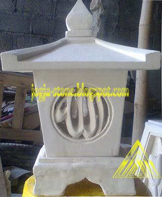 LAMPION BATU ALAM MOTIF ALLAH