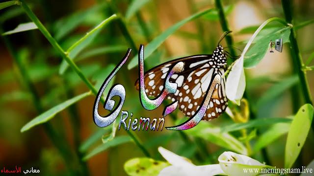 معنى اسم ريمان وصفات حامل و حاملة هذا الاسم Rieman