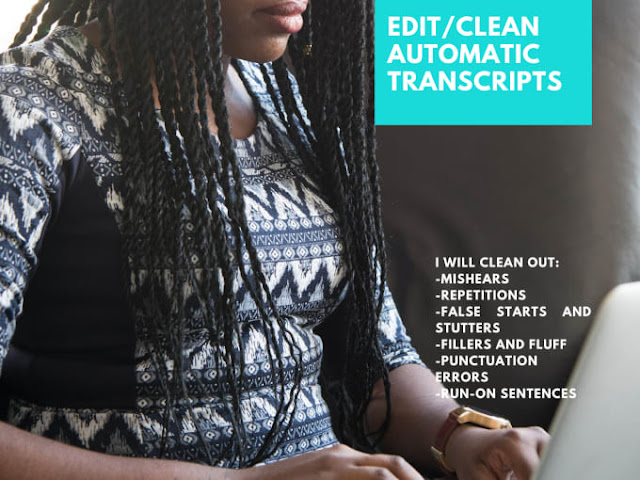 Proofread and edit auto transcripts for errors - transcription and translation