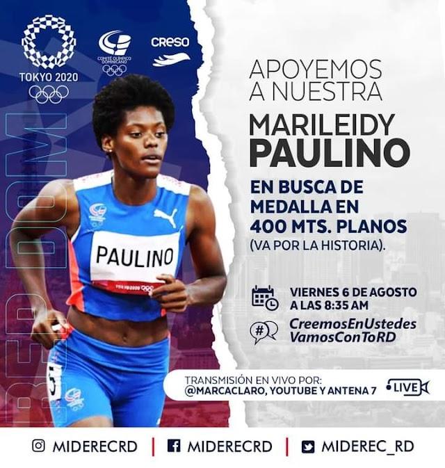Dale Clic a la imagen y veras en vivo correr nuestra Dominicana Paulino