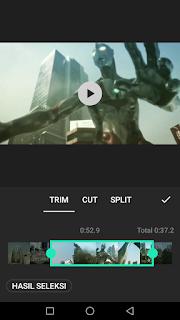 Cara edit video memotong video menggunakan aplikasi Inshot di Android