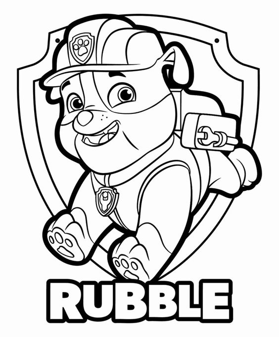 Paw patrol coloring pages 34