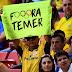 """""""Fuera Temer"""" se escucha en los Juegos Olímpicos, antes del voto final en el juicio a Dilma Rousseff"""