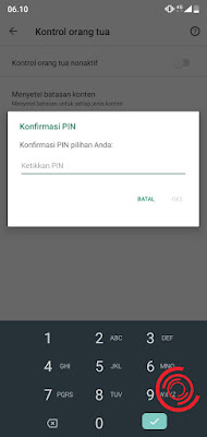 7. Terakhir, konfirmasi PIN lalu klik Oke
