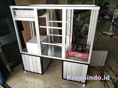 Gerobak Aluminium Motor untuk Jualan Soto pesanan Bpk Hendri di Cinere Depok