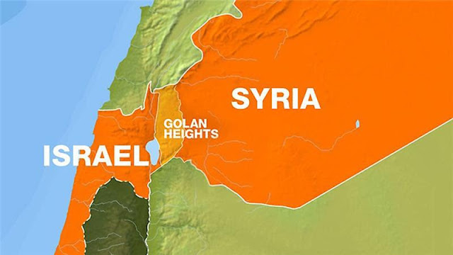 Peta dataran tinggi Golan