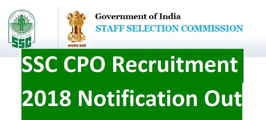 Cpo pdf ssc notification