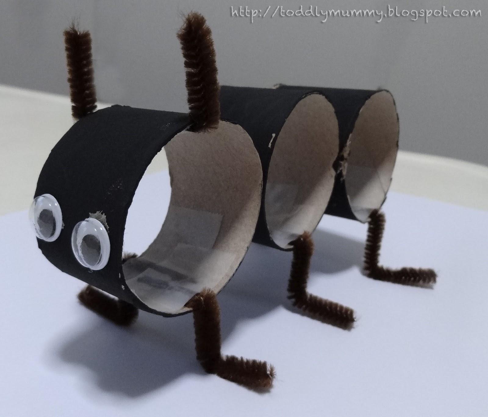 Craft Fun Toilet Paper Roll Ant on Preschool Love