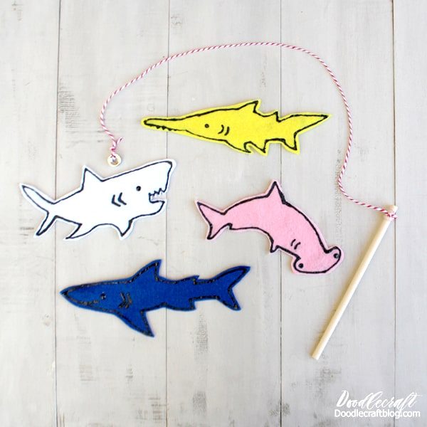 Shark magnetic fishing set diy