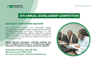 NHEF Annual Scholarship Essay Competition Form 2021 [6th Edition]