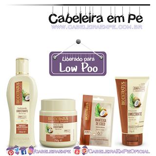 Condicionador, Banho de Creme, Finalizador e Manteiga de Coco linha Umectante - Bio Extratus