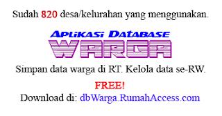 Aplikasi Database Warga (dbWarga.RumahAccess.com)