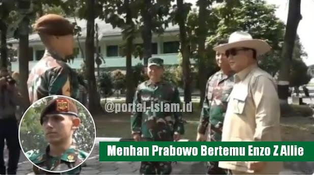 Menhan Prabowo Bertemu Enzo Z Allie, Taruna Keturunan Prancis Yang Dulu Viral