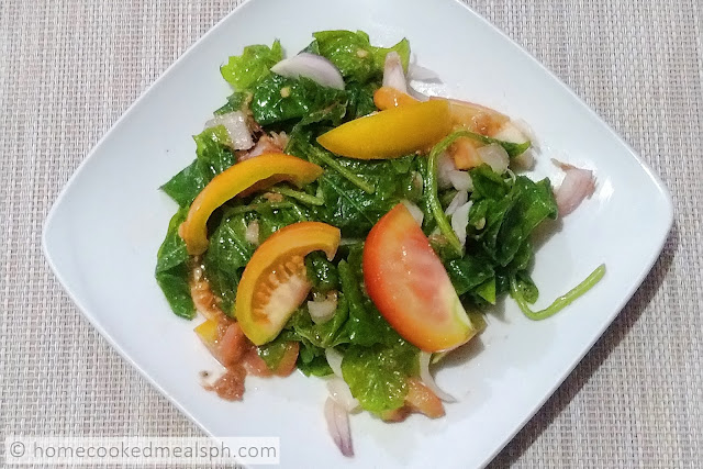 ampalaya recipe, appetizer recipes, easy recipe, ensaladang ampalaya, Filipino recipes, salad recipe,