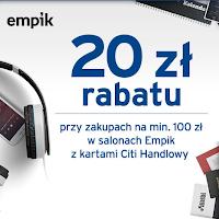 Citibank: rabat 20 zł w salonach Empik