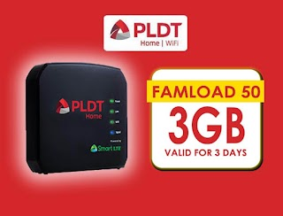 PLDT Famload 50 – 3GB of Open Access Data Valid up to 3 Days