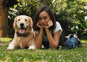 Nabila Sudiro Bersama Anjingnya
