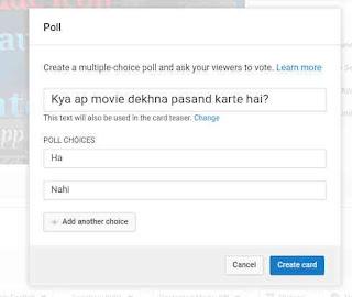 Youtube Me Poll Create Kaise Kare 8