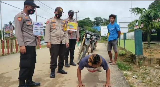 Polsek Kahut Tetap Laksanakan Operasi Yustisi Pendisiplinan Masyarakat