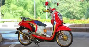 100+1 GAYA MODIFIKASI MOTOR SCOOPY
