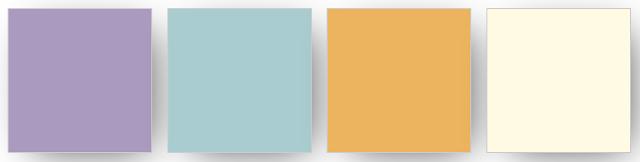 Combinaison de couleurs Stampin' Up! utilisée pour mon projet