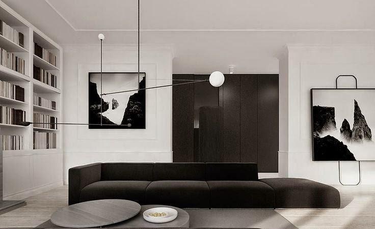 Dise os salas minimalistas blanco y negro salas con estilo for Design minimalista