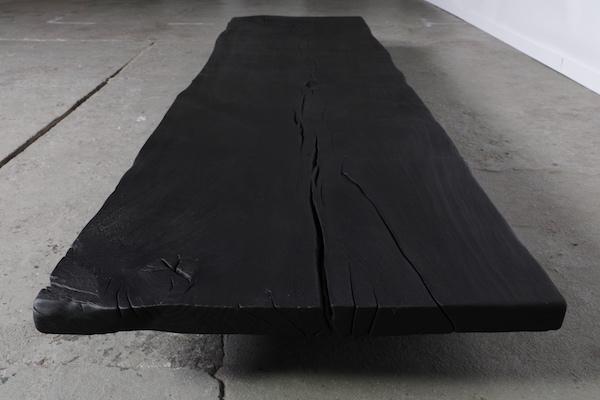 WDSTCK  Burned coffee table