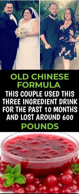 OLD CHINESE FORMULA THIS COUPLE USED THIS THREE INGREDIENT DRINK FOR PAST 10 MONTHS AND LOST AROUND 600 POUNDS